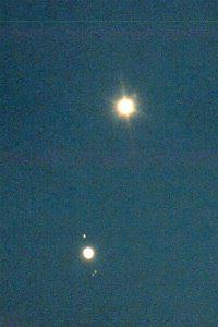 The Conjunction of Venus and Jupiter - Feb 23, 1999 - Photo Copyright by Ed Flaspoehler